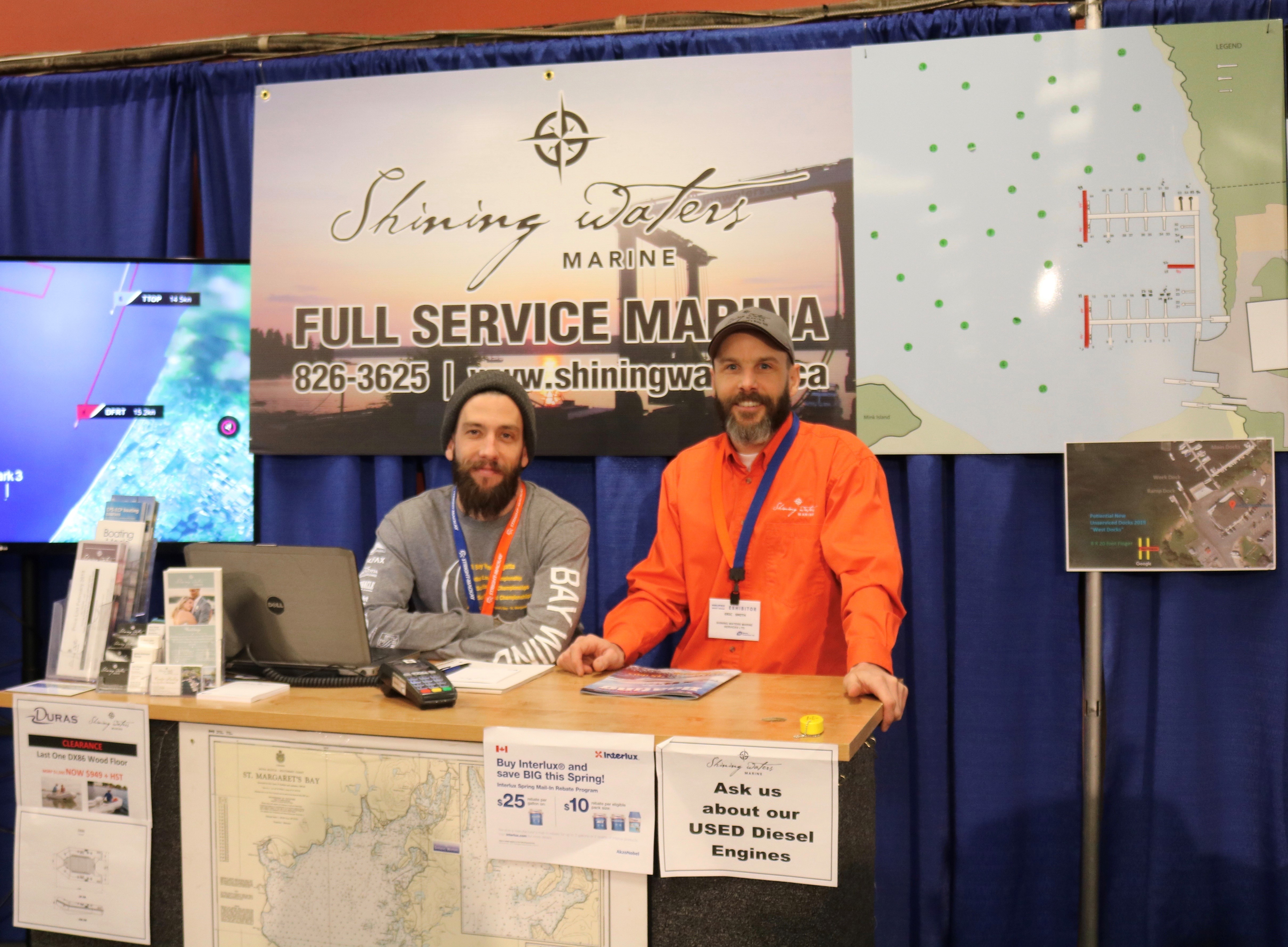 Shining Waters Marine booth
